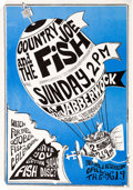 Music Memorabilia:Posters, Country Joe And The Fish - Group of Four Concert Posters(1966-67)....