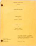 "Movie/TV Memorabilia:Documents, A Script from ""Gone With The Wind.""..."