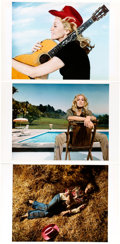 Music Memorabilia:Photos, Madonna Group of Rare Oversized Color Photographs Related to Her Music Album (2000).. ... (Total: 3 Items)