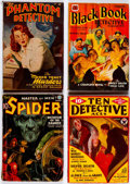 Pulps:Detective, Assorted Crime/Detective Pulps Group of 7 (Various, 1934-42)Condition: Average GD/VG.... (Total: 7 Items)