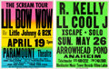 Music Memorabilia:Posters, R. Kelly/LL Cool J/Lil Bow Wow - Two Concert Posters (1996 &2002)....
