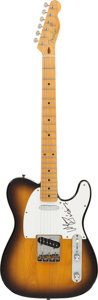 Musical Instruments:Electric Guitars, Waylon Jennings Signed Fender Telecaster Guitar....
