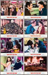 "Gone with the Wind (MGM, R-1968). Lobby Card Set of 8 (11"" X 14""). Academy Award Winners. ... (Total: 8 Items)"