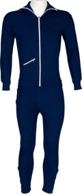 Music Memorabilia:Costumes, Beatles - John Lennon Personally Owned and Worn Two-Piece TrackSuit (Circa 1970)....