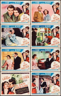 "21 Days Together (Columbia, 1940). Lobby Card Set of 8 (11"" X 14""). Drama. ... (Total: 8 Items)"