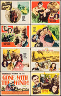"Movie Posters:Academy Award Winners, Gone with the Wind (MGM, R-1947). Lobby Card Set of 8 (11"" X 14"").Academy Award Winners.. ... (Total: 8 Items)"