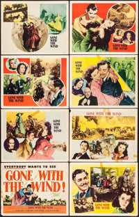 "Gone with the Wind (MGM, R-1947). Lobby Card Set of 8 (11"" X 14""). Academy Award Winners. ... (Total: 8 Items)"
