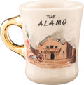 "Movie/TV Memorabilia:Props, A John Wayne-Related Coffee Mug from ""The Alamo.""..."