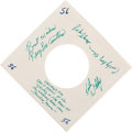 Music Memorabilia:Autographs and Signed Items, Keith Whitley/Ralph Stanley and the Clinch Mountain Boys SignedSleeve (1972)....