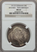 German States:Bavaria, German States: Bavaria. Otto 3 Mark 1911-D MS63 NGC,...