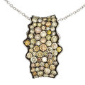 Estate Jewelry:Pendants and Lockets, Colored Diamond, White Gold Pendant-Necklace, Simon G.. ...