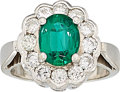 Estate Jewelry:Rings, Emerald, Diamond, White Gold Ring . ...