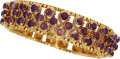 Estate Jewelry:Bracelets, Amethyst, Gold Bracelet. ...
