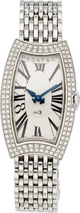 Estate Jewelry:Watches, Bedat Lady's Diamond, Stainless Steel No. 3 Watch. ...
