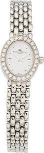 Estate Jewelry:Watches, Baume & Mercier Lady's Diamond, White Gold Watch. ...