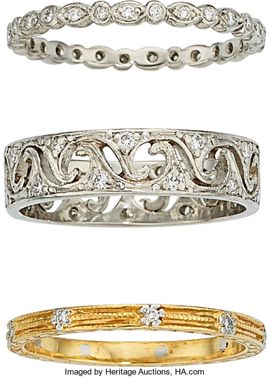 Diamond Platinum Gold Eternity Bands Cathy Waterman
