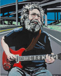 Music Memorabilia:Memorabilia, Grateful Dead - Original Artwork Of Jerry Garcia By George Frayne(Aka Commander Cody) For The Cover Of Relix Maga...