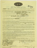 Music Memorabilia:Documents, Big Brother and the Holding Company - Peter Albin Signed ConcertContract, The Psychedelic Supermarket, Boston, February 23 &...