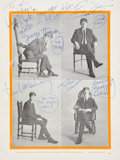Music Memorabilia:Autographs and Signed Items, Beatles 1963 Program Signed for the Tour Headliner Chris Montez and from His Personal Collection (UK, March 1963). ...