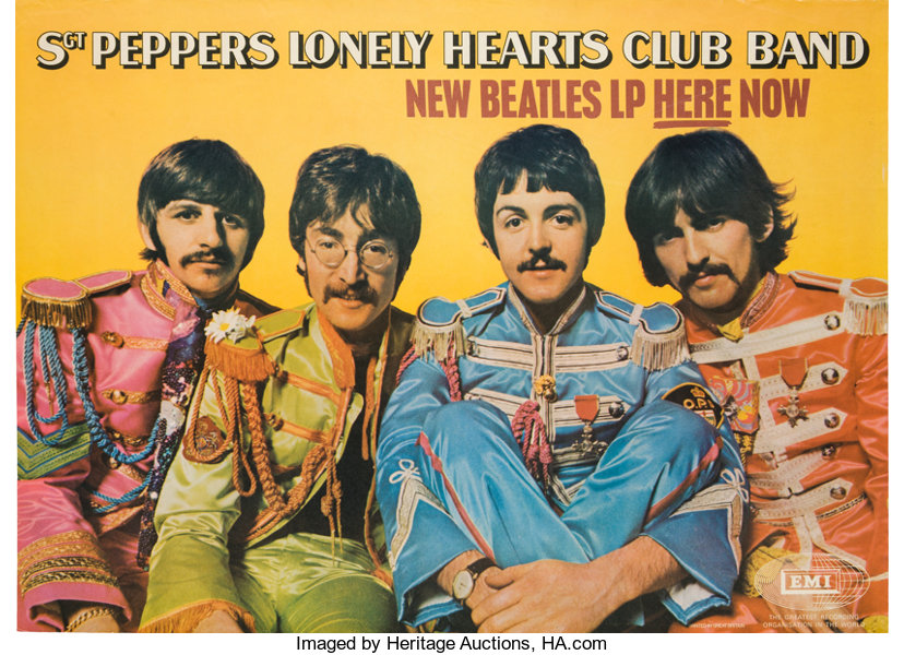 Music MemorabiliaPosters Beatles Sgt Peppers Lonely Hearts Club Band EMIPromotional Poster