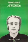 Music Memorabilia:Posters, John Lennon Mind Games UK Limited Promotional Poster (1973).. ...