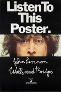 Music Memorabilia:Posters, John Lennon Walls And Bridges Apple Records PromotionalPoster (1974)....