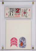 Music Memorabilia:Tickets, Monterey International Pop Festival Unused Ticket and Business card (1967)....