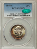 Washington Quarters, 1948-S 25C MS67+ PCGS. CAC....