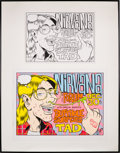 Music Memorabilia:Original Art, Nirvana - Original Artwork For Nirvana At The Forum Concert Poster(1993)....