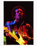 Music Memorabilia:Photos, Jimi Hendrix Limited Edition Print Of Fillmore East Performance ByJim Cummins (1969)...