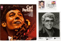 Music Memorabilia:Autographs and Signed Items, Carl Perkins Set of Three Autographs (1990s)....