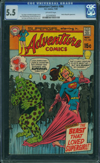 Adventure Comics #386 (DC, 1969) CGC FN- 5.5 OFF-WHITE pages