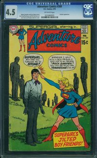 Adventure Comics #389 (DC, 1970) CGC VG+ 4.5 OFF-WHITE pages