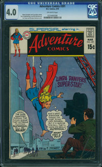 Adventure Comics #391 (DC, 1970) CGC VG 4.0 OFF-WHITE pages