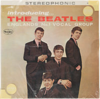 "Introducing The Beatles Ultra-Rare Version One ""Column Back"" Stereo LP in Original Sears Sleeve with Pe"