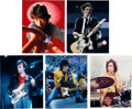 Music Memorabilia:Autographs and Signed Items, Rolling Stones - Group of Five Signed Color Photos....