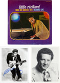 Music Memorabilia:Autographs and Signed Items, Chuck Berry, Little Richard and Jerry Lee Lewis Autograph Lot. ...
