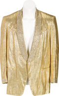 Music Memorabilia:Costumes, Elvis Presley-Related Gold Lamé Jacket by Nudie's Rodeo Tailors(Circa 1957)....