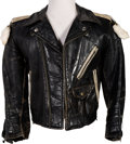 Music Memorabilia:Costumes, Jimi Hendrix Black Leather Biker's Jacket (Circa 1969)....