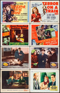 "Movie Posters:Hitchcock, The Wrong Man & Others Lot (Warner Brothers, 1957). Lobby Cards(11) & Title Cards (2) (11"" X 14""), and Mini Lobby Cards (4)...(Total: 17 Items)"
