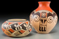 American Indian Art:Pottery, Two Hopi Polychrome Jars. Fannie Nampeyo and Clinton PolaccaNampeyo... (Total: 2 Items)