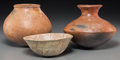 American Indian Art:Pottery, Three Anasazi/Pre-Columbian Pottery Vessels... (Total: 3 Items)