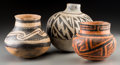 American Indian Art:Pottery, Three Anasazi Pottery Vessels... (Total: 3 Items)