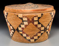 American Indian Art:Baskets, A Large Northwest Coast Lidded Storage Basket...