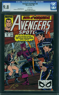 Avengers Spotlight #28 (Marvel, 1990) CGC NM/MT 9.8 WHITE pages