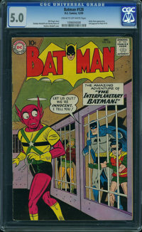Batman #128 (DC, 1959) CGC VG/FN 5.0 CREAM TO OFF-WHITE pages
