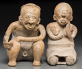 Pre-Columbian:Ceramics, A Jalisco Couple. c. 200 BC - 200 AD... (Total: 2 Items)