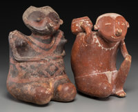 Two Nayarit Chinesco Figures c. 200 BC - 200 AD