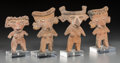 Pre-Columbian:Ceramics, Four Michoacan Female Figures. c. 200 BC - 200 AD. ... (Total: 4Items)