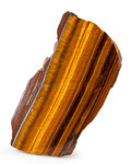Lapidary Art:Carvings, Tiger's Eye. South Africa. 5.98 x 3.06 x 1.35 inches (15.20 x7.77 x 3.44 cm). ...